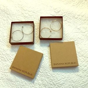 Silver and Gold Fashion Hoop Earrings